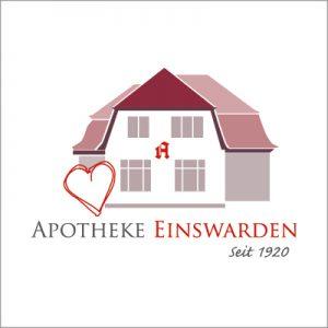 """Logo der Apotheke Einswarden mit dem Zusatz """"seit 1920""""."""