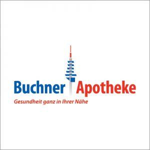 Logo der Buchner-Apotheke.