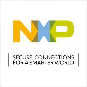 """Logo von NXP mit dem Zusatz """"Secure connections for a smarter world""""."""