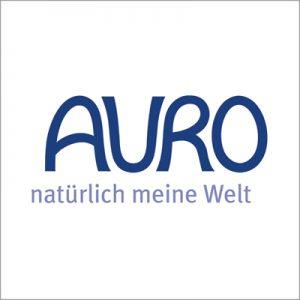 """Logo von Auro mit dem Zusatz """"natürlich meine Welt""""."""