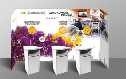 Messestand-design für NXP.