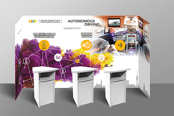 Messestand-design für NXP.