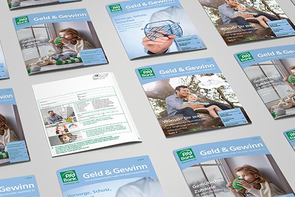 PSD Magazin verschiedene Cover und eine Rückseite.